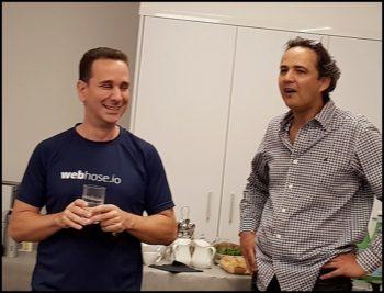 Les fondateurs de Webhose: Ran Geva (CEO) et Guy Mor (CMO)
