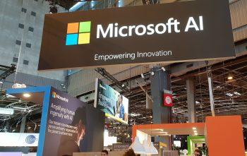 Microsoft a installé un espace start-up & IA - VivaTech 2018