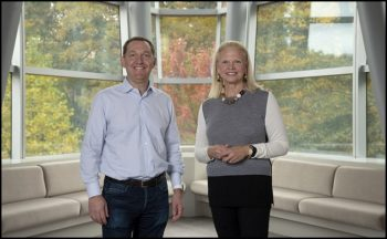 James M Whitehurst, CEO de Red Hat et Ginni Rometty, CEO d'IBM