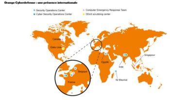 Orange Cyberdéfense: le déploiement dans le monde (2017)