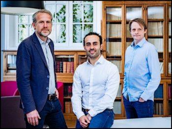 Les dirigeants d'Indexima - de gauche à droite: Emmanuel Dubois, Nicolas Korchia et Florent Voignier