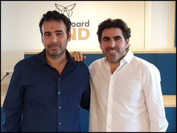 Les cofondateurs d'Insideboard: Michaël Bentolila (CEO) et Yohan Bentolila (CTO)