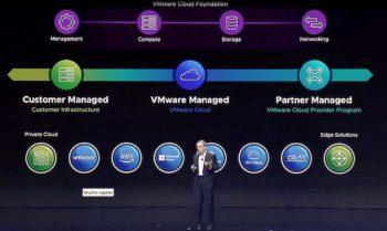 Pat Gelsinger, CEO de VMware annonce qu'HPE étend le partenariat à GreenLake.