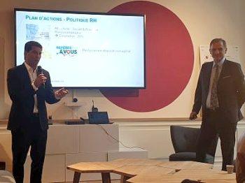Frédéric Sebag et Guy Mamou-Mani, co-dirigeants du groupe Open