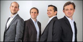 Les cofondateurs de Sewan: Nicolas Beau, David Brette, Alexis de Goriainoff et Christophe Cresp