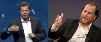 Frank Slootman, CEO de Snowflake et Marc Benioff, CEO de Salesforce