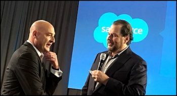 Keith Block et Marc Benioff, CEO et ex co-CEO de Salesforce