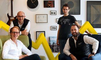 Les cofondateurs: Killian Bazin, Charles Miglietti, David Nowinsky et Baptiste Jourdan