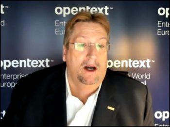Mark J. Barrenechea, CEO et CTO d'OpenText en mode visioconférence
