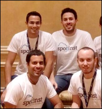 Les cofondateurs de Spot- Amiram Shachar et Aharon Twizer (en haut), et Yakir Daniel et Liran Polak.