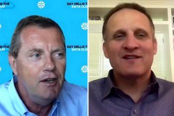 Frank Slootman, CEO de Snowflake et Adam Selipsky, président et CEO de Tableau