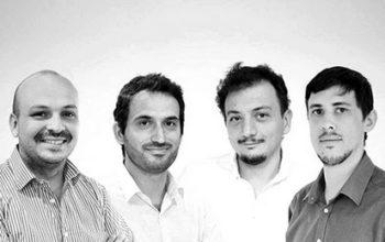 Les cofondateurs de Dataiku: Thomas Cabrol, Marc Batty, Florian Douettau, Clément Stenac