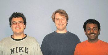 les cofondateurs de PagerDuty: Alex Solomon (CTO), Andrew Miklas et Baskar Puvanathasan