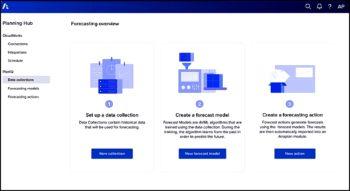 En quelques clics, l'utilisateur applique des modèles d'intelligence artificielle entraînés dans ses scénarios de planification.