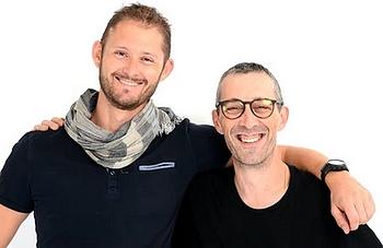 Philippe Pujau et Thomas Babin, cofondateurs de Caveasy
