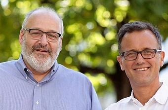 Michel Morvan et Hugues de Bantel, cofondateurs de Cosmo Tech.