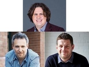 Les cofondateurs de Waverly : Philippe Beaudoin, Michael Kronish et Patrick Fauquembergue