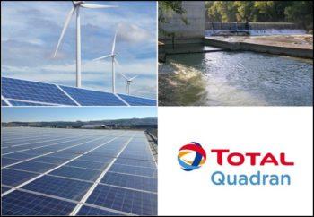 Total Quadran, spécialiste des énergies renouvelables: éolien, solaire et hydroélectrique