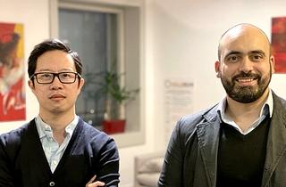 An Nguyen et Faïz Djellouli, cofondateurs d'Holiseum