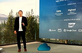 """Christian Klein, CEO de SAP présente RISE with SAP, """"étape historique"""" pour l'éditeur."""