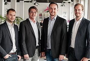 Les cofondateurs de Signavio: Torben Schreiter, Nicolas Peters, Willi Tscheschner et Gero Decker