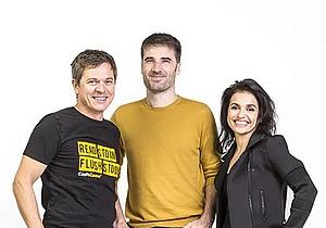 Les cofondateurs de CodinGame (de gauche à droite): Frédéric Desmoulins (CEO), Nicolas Antoniazzi (CTO et, Aude Barral (CMO)