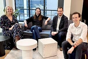 Cofondateurs de Golem.ai: Célia Doreau, Thomas Solignac, Killian Vermersch et Guillaume Navarre