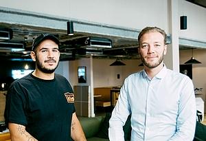 Les cofondateurs d'Happydemics: Tarek Ouagguini et Nicolas Trabuc