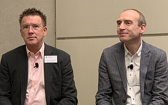 Les cofondateurs de Blue Prism: Alastair Bathgate et David Moss