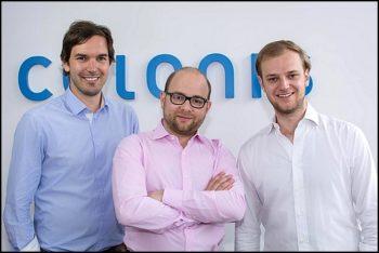 Les cofondateurs de Celonis : Alexander Rinke (co-CEO), Bastian Nominacher (co-CEO) et Martin Klenk (CTO)