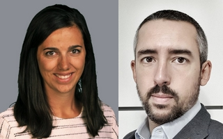 Christine Bertolus, responsable commercial PME chez Cisco France, et Nicolas Papin, responsable ventes internationales chez Placetel