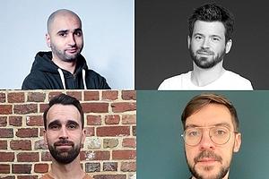 Les cofondateurs de Gravitee.io: Azize Elamrani, Nicolas Géraud, David Brassely, et Titouan Compiègne