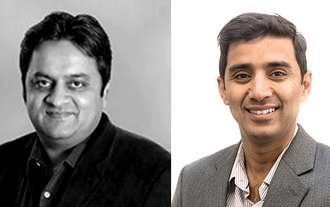 Les cofondateurs de Lacework: Sanjay Kalra et Vikram Kapoor